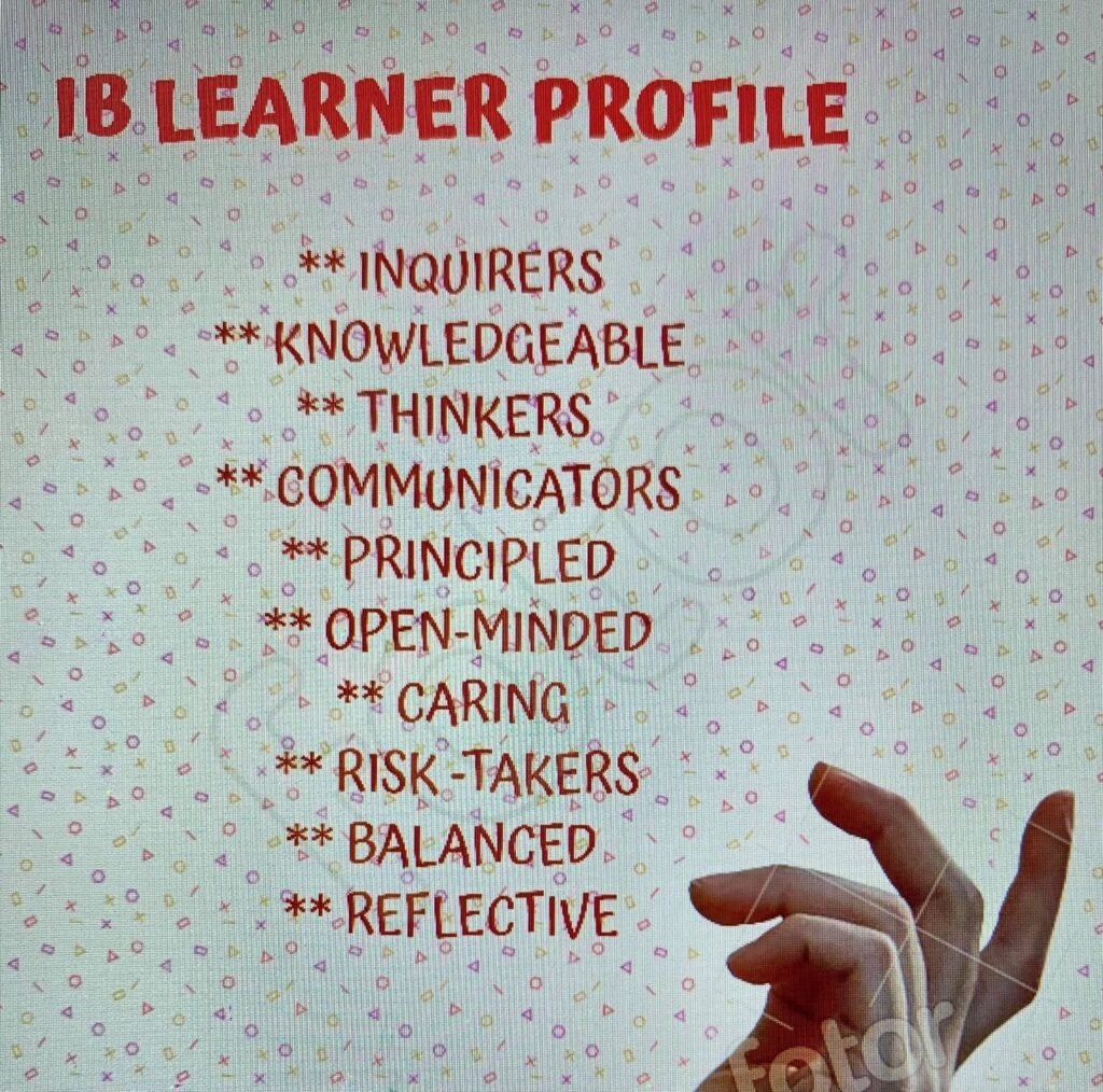 IB learner profile CHÂN DUNG HỌC SINH IB