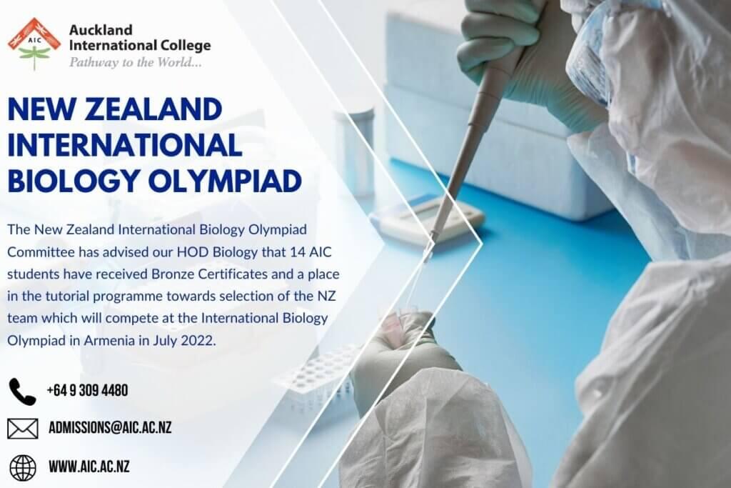 AIC New Zealand International Biology Olympiad